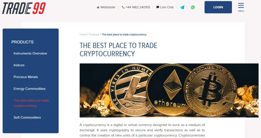 Trade99 - Best Cryptocurrency Trading Platform