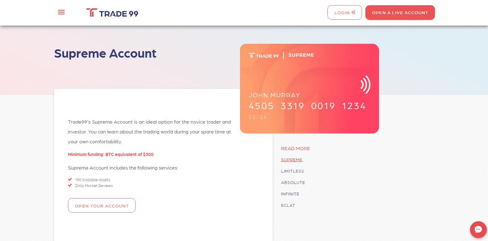 Trade99 - Trading Account