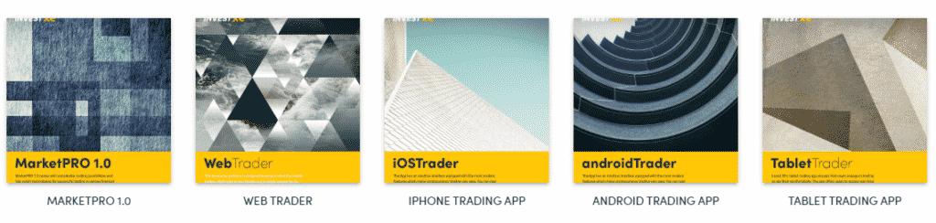 Range of InvestXE Trading Platforms